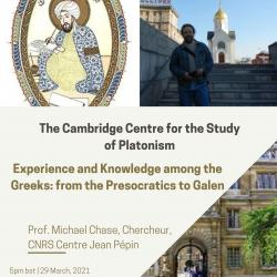 Prof. Michael Chase - Experience and Knowledge among the Greeks: from the Presocratics to Galen