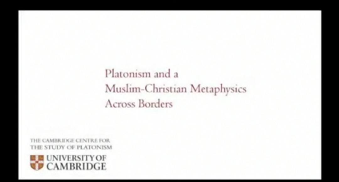 Platonism and a Muslim-Christian Metaphysics Across Borders | 29 November 2020